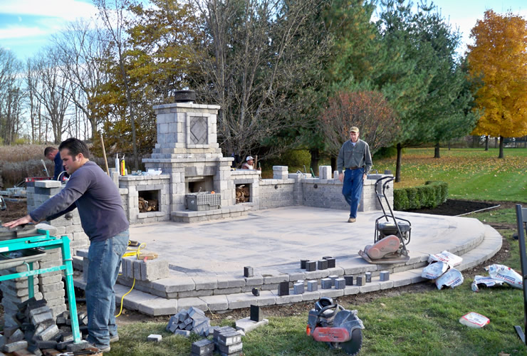Outdoor Fireplace in Ann Arbor Michigan Archives - Pellegata ...