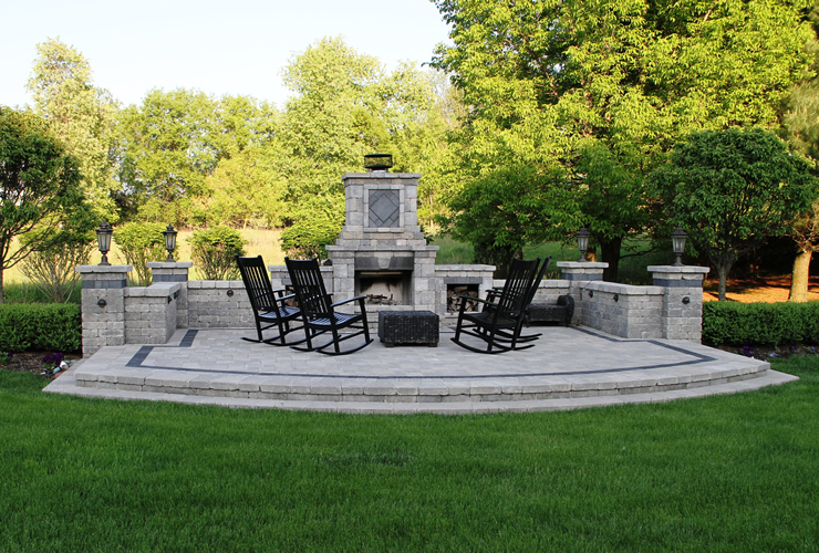 Outdoor fireplace in ann arbor michigan archives for Landscape design michigan