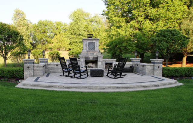 Outdoor Fireplace - Oakland County